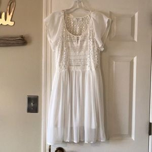 Peach Love California white dress. Size S.